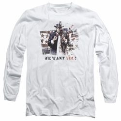 Arkham City adult long-sleeved shirt We Want You white