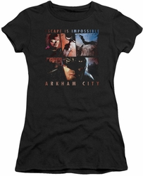 Arkham City juniors t-shirt Escape Is Impossible black