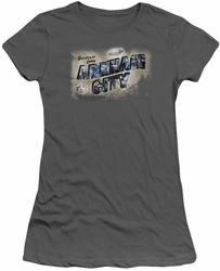 Arkham City juniors t-shirt Greetings From Arkham charcoal