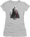 Arkham City juniors t-shirt Harley And Bats silver