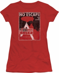 Arkham City juniors t-shirt No Escape red