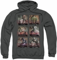Arkham City pull-over hoodie Arkham Lineup adult charcoal