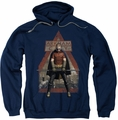 Arkham City pull-over hoodie Arkham Robin adult navy