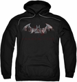 Arkham City pull-over hoodie Bat Fill adult black