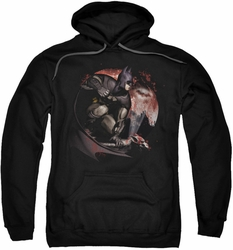 Arkham City pull-over hoodie Blood Moon adult black