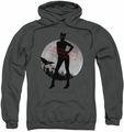 Arkham City pull-over hoodie Catwoman Convicted adult charcoal