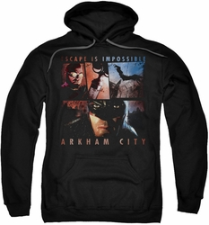 Arkham City pull-over hoodie Escape Is Impossible adult black