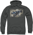 Arkham City pull-over hoodie Greetings From Arkham adult charcoal