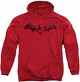 Batman Arkham City pull-over hoodie In The City adult red