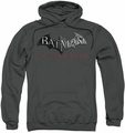 Arkham City pull-over hoodie Logo adult charcoal