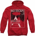 Batman Arkham City pull-over hoodie No Escape adult red
