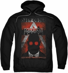 Arkham City pull-over hoodie Obey Order Poster adult black