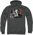 Arkham City pull-over hoodie Plenty Wrong adult charcoal