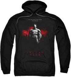Arkham City pull-over hoodie Standing Strong adult black