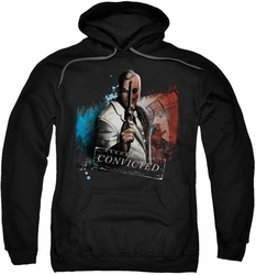 Arkham City pull-over hoodie Two Face adult black