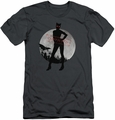 Arkham City slim-fit t-shirt Catwoman Convicted mens charcoal