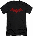 Arkham City slim-fit t-shirt Red Bat mens black