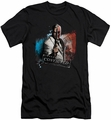 Arkham City slim-fit t-shirt Two Face mens black