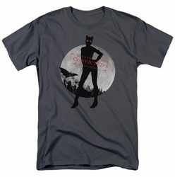 Arkham City t-shirt Catwoman Convicted mens charcoal