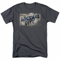 Arkham City t-shirt Greetings From Arkham mens charcoal