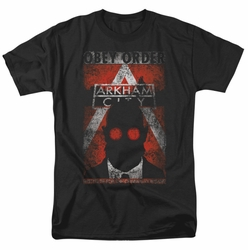 Arkham City t-shirt Obey Order Poster mens black