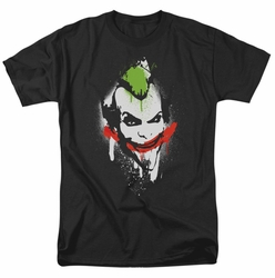 Arkham City t-shirt Spraypaint Smile mens black