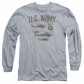 Army adult long-sleeved shirt Airborne heather