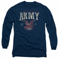 Army adult long-sleeved shirt Arch navy