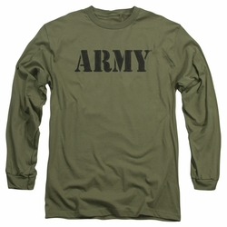 Army adult long-sleeved shirt Army military green