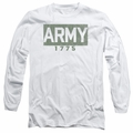 Army adult long-sleeved shirt Block white