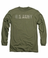 Army adult long-sleeved shirt Camo military green