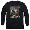 Army adult long-sleeved shirt Go Army black