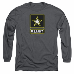 Army adult long-sleeved shirt Logo charcoal