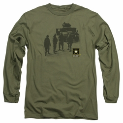 Army adult long-sleeved shirt Strong military green