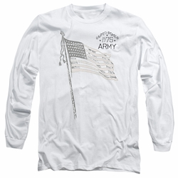 Army adult long-sleeved shirt Tristar white