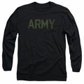Army adult long-sleeved shirt Type black
