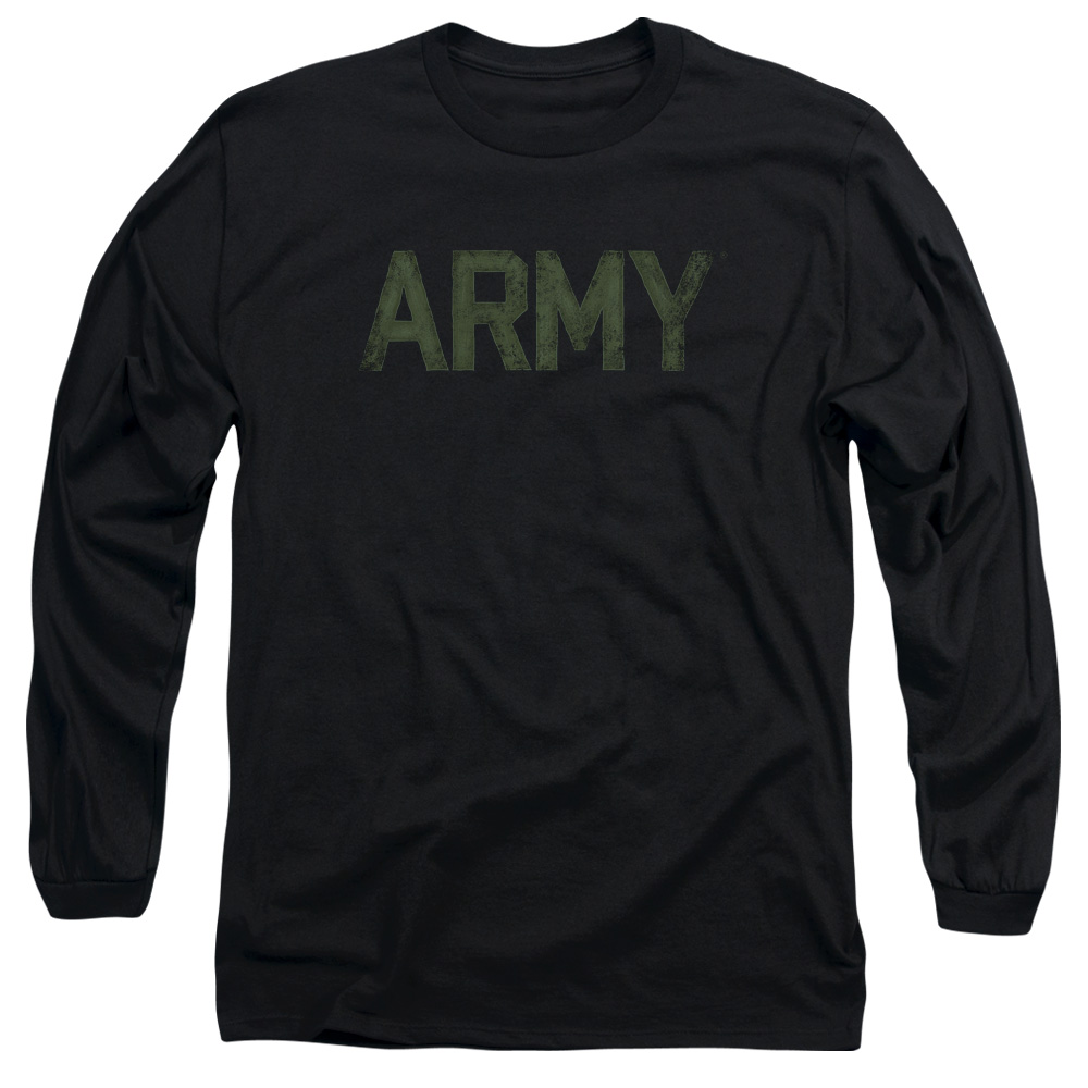 Army Adult Long Sleeved Shirt Type Black
