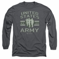 Army adult long-sleeved shirt United States Army charcoal