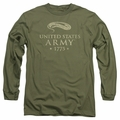 Army adult long-sleeved shirt We'll Defend military green