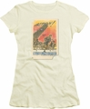 Army juniors sheer t-shirt Action Poster cream/ivory