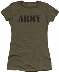 Army juniors sheer t-shirt Army military green