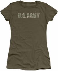 Army juniors sheer t-shirt Camo military green