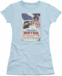 Army juniors sheer t-shirt Pearl Harbor light blue