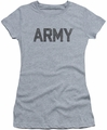 Army juniors sheer t-shirt Star athletic heather