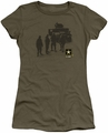 Army juniors sheer t-shirt Strong military green
