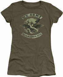 Army juniors sheer t-shirt Union Eagle military green