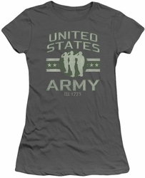 Army juniors sheer t-shirt United States Army charcoal