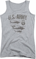 Army juniors tank top Airborne athletic heather