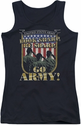Army juniors tank top Go Army black