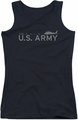 Army juniors tank top Helicopter black